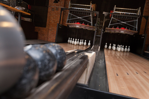 Duckpin bowling as seen at Pins Mechanical Co. in Columbus on Wednesday, August 31, 2016. (Dispatch photo by Tyler Stabile)