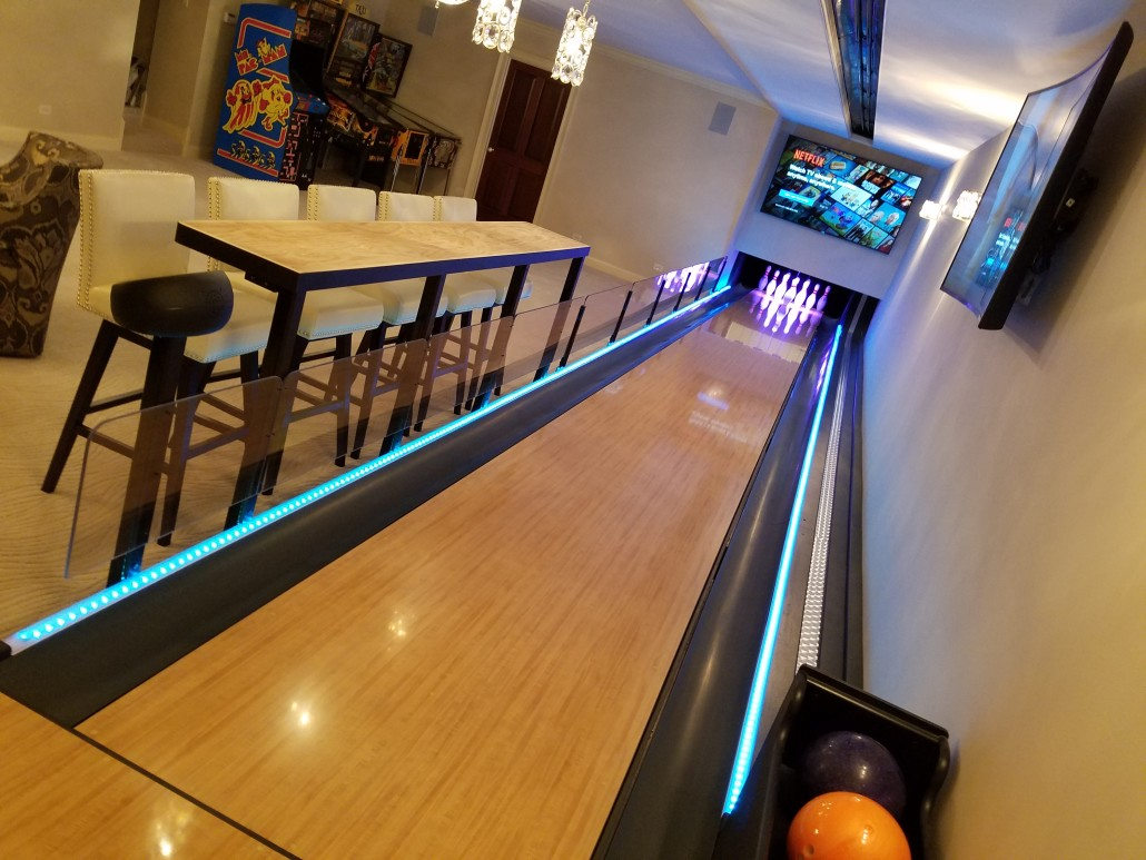 how to build a bowling alley in your home
