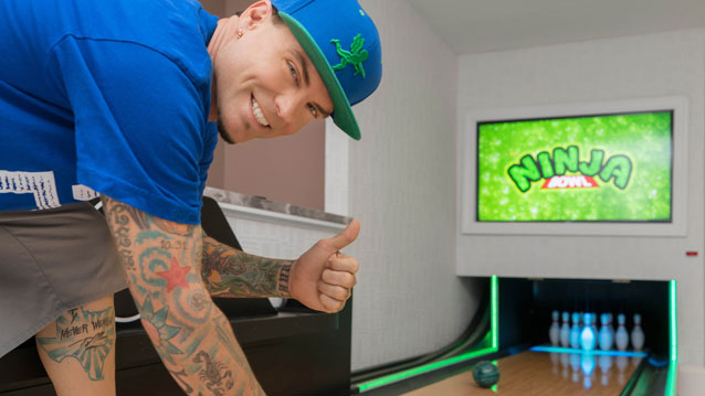 Home bowling residential bowling dyi bowling installations whos got a real bowling alley in their house weee do this is going to be epic ninja bowl look out we only had 25ft of space and steve of solutioingenieria Images